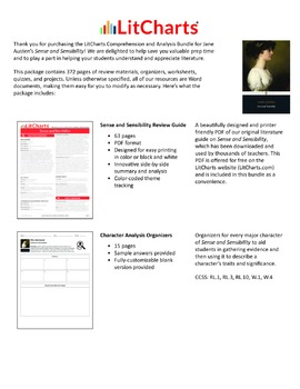 Sense and Sensibility – Comprehension and Analysis Bundle