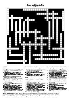 Sense and Sensibility - Crossword Puzzle
