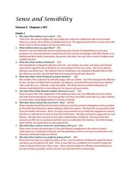 Sense and Sensibility Study Guides and Tests