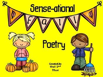 Sense-ational Fall Poetry- 5 Sense Poems