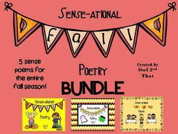 Sense-ational Fall Poetry Bundle- 5 Sense Poems