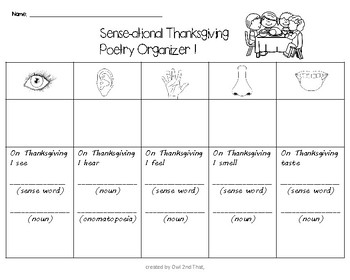 Sense-ational Thanksgiving Poetry- 5 Sense Poems