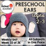 Sense of Hearing Preschool Unit - Printables for Preschool, PreK, Homeschool