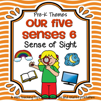 Sense of Sight Centers and Activities for Preschool and Pre-K