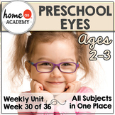 Sense of Sight Preschool Unit - Printables for Preschool, PreK, Homeschool PreK