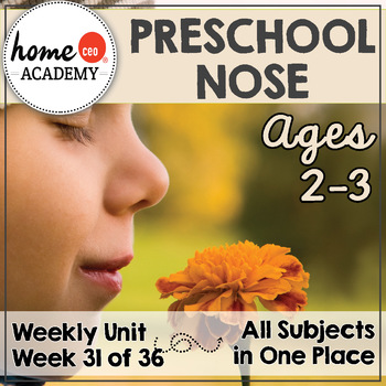 Sense of Smell Preschool Unit - Printables for Preschool, PreK, Homeschool PreK