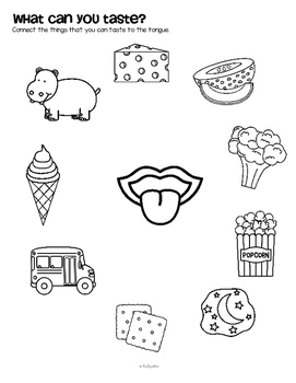 Sense of Taste Math, Science, and Literacy Centers and Activities for Preschool