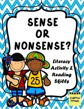 Sense or Nonsense- sentence - reading activity