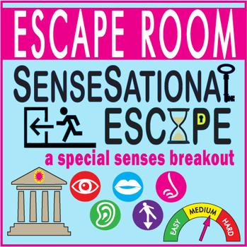 SenseSational Escape Room (Breakout) ~SENSES~ Biology/Anatomy -Digital Locks