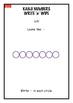 Sensei-tional Classrooms Kanji Wipe 'n' Write: Numbers 1-4 Sample