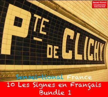 Sensei-tional France: 10 Les Signes en Français Bundle 1