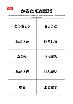 Sensei-tional Japanese Karuta Vocabulary Mini Flashcards: Major Cities in Japan.