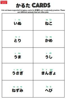 Sensei-tional Japanese Karuta Vocabulary Mini Flashcards: Pets