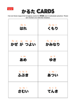 Sensei-tional Japanese Karuta Vocabulary Mini Flashcards: Weather