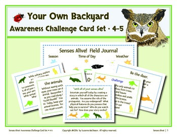 Senses Alive!  Five Senses Awareness Challenge Card Set 4-5