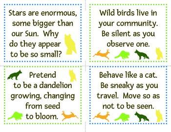 Senses Alive!  Five Senses Awareness Challenge Card Set K-1