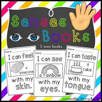 Senses Books- 5 mini-books for Learning Senses