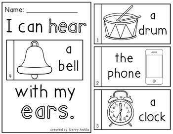 Senses Mini-Books- 5 Mini-Books for Learning Senses