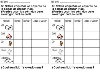 Senses/Inquiry skills (Spanish/English)