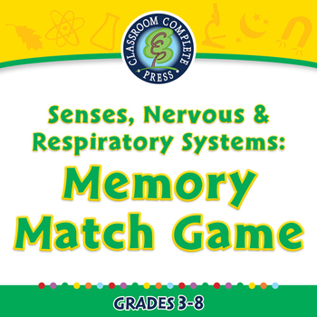 Senses, Nervous & Respiratory Systems: Memory Match Game -