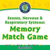 Senses, Nervous & Respiratory Systems: Memory Match Game - PC Gr. 3-8