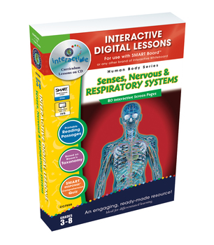 Senses, Nervous & Respiratory Systems - NOTEBOOK Gr. 3-8