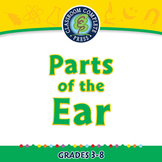 Senses,Nervous & Respiratory Systems: Parts of the Ear - NOTEBOOK Gr. 3-8