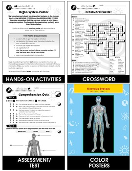 Senses, Nervous & Respiratory Systems: The Sense of Touch Gr. 5-8