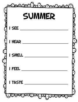 Senses Poems- 4 Seasons