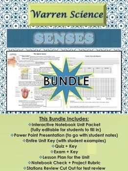 Senses Unit *BUNDLE* (1st Unit for Spring Semester-Unit 6 in Series)