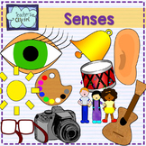 Five Senses clipart - Sight, taste, touch, smell, hear {Sc