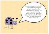 Senses story writing brainstorming graphic organiser