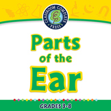 Senses,Nervous & Respiratory Systems: Parts of the Ear - P