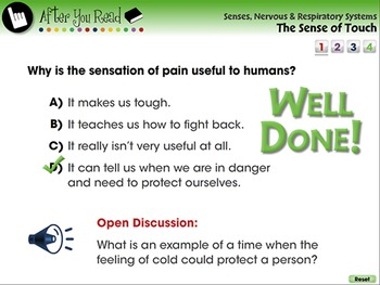 Senses,Nervous & Respiratory Systems: The Sense of Touch - PC Gr. 3-8