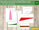 Montessori Sensorial Activities - Work Cards