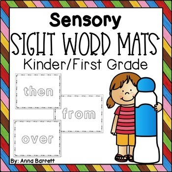 Sensory First Grade Sight Word Mats