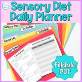 Sensory Activities: No Prep Daily Planner