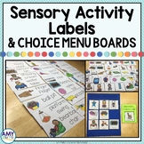 Sensory Choice Cards and Activity Labels