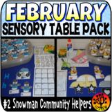 Sensory Bin Activities February Snowman Community Helpers