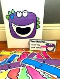 Sensory Bin Activities:  Feed Monster Activities