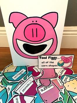 Sensory Bin Activities:  Feed Piggy Activities