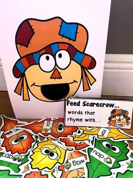 Sensory Bin Activities:  Feed Scarecrow