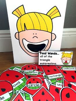 Sensory Bin Activities:  Feed Wanda Watermelon
