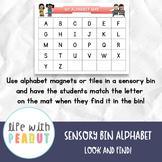 Sensory Bin Alphabet Mat, Look and Find, Preschool Centers