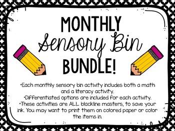 Sensory Bin BUNDLE