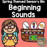 Sensory Bin - Beginning Sounds For Kindergarten and First Grade