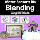 Sensory Bin - Blending CVC Words for Kindergarten and First Grade