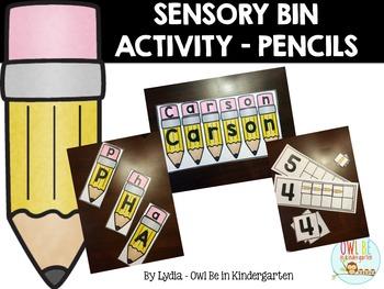 Sensory Bin Center Activities - Pencils