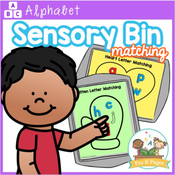 Sensory Bin Letter Matching Mats Lowercase