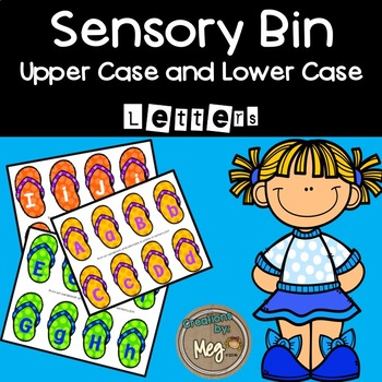 Sensory Bin - Letter Matching for Kindergarten